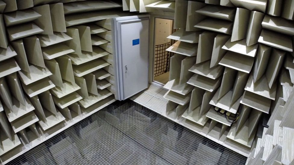 The anechoic chamber has been sealed from any potential sources of noise (Credit: Microsoft)