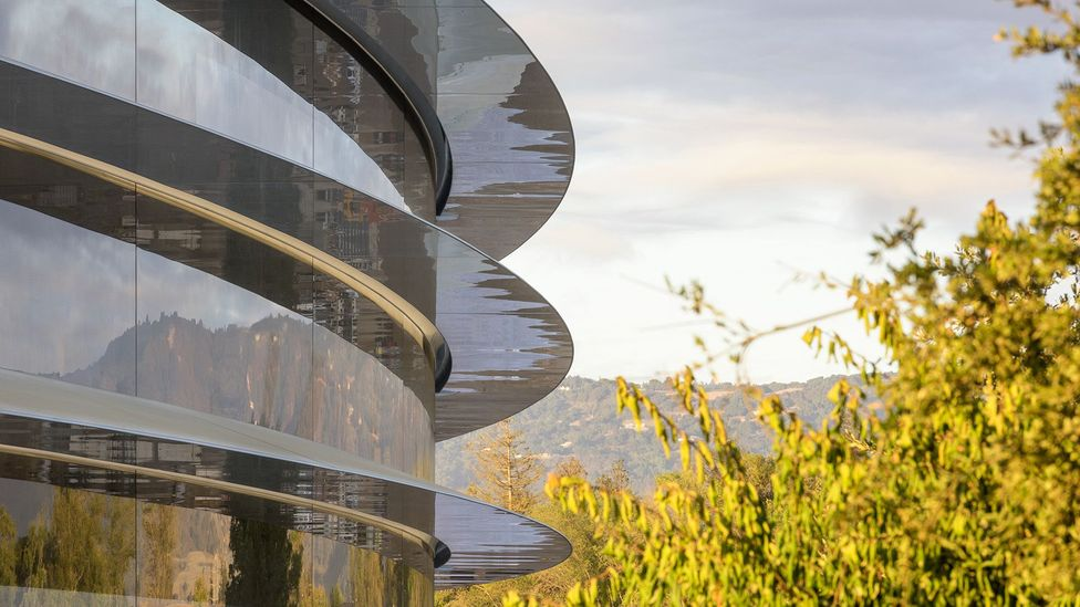 Miles of glass encase Apple's multibillion-dollar Campus 2, which has been designed to meet the tech company's famously exacting standards (Credit: Nigel Young/Foster + Partners)