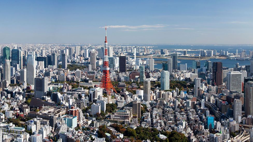 Urban metropolises, like Tokyo, juggle layout design, access to greenery, and visual appeal - all of which have psychological effects on residents. (Credit: Alamy Stock Photo)