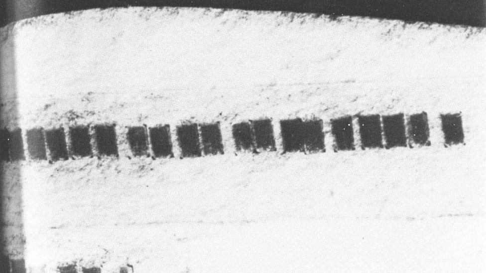 Microdots taped inside the label of an envelope sent by German spies in Mexico City to Lisbon during World War Two (Credit: Wikipedia)
