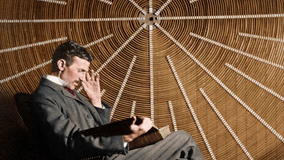 We'll never know, but maybe out of shot, Nikola Tesla was squishing his toes (Credit: SPL)