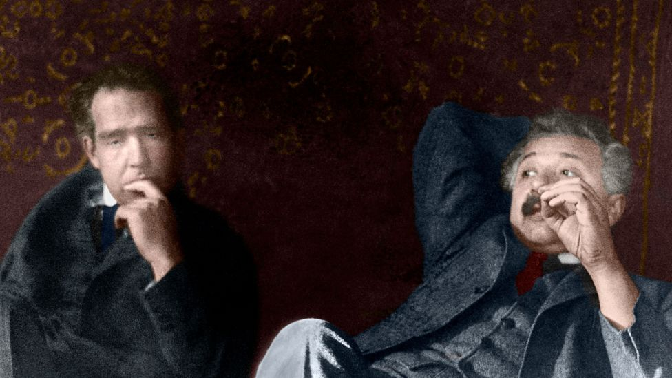 Chilling out with physicist Niels Bohr (Credit: SPL)
