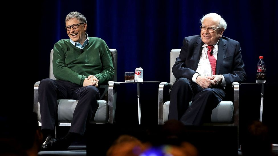 Bill Gates and Warren Buffett, two of the world's richest men, have days with nothing scheduled to allow for sitting and thinking (Credit: Getty Images)