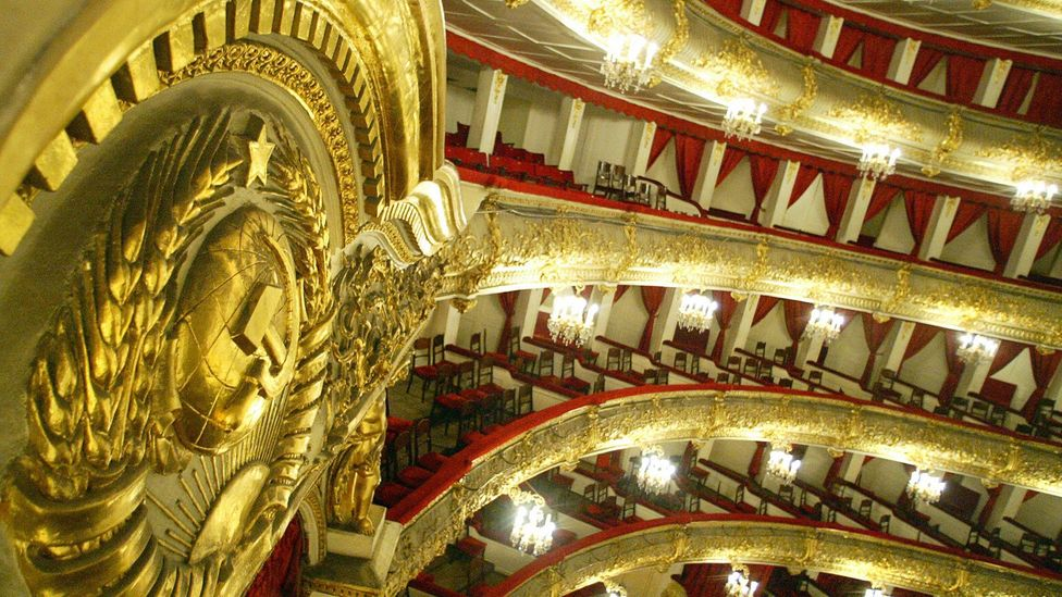 The Bolshoi Theatre was finished in 1824 and has been renovated many times in its life – sometimes to reflect Russia's changing politics (Credit: Getty)
