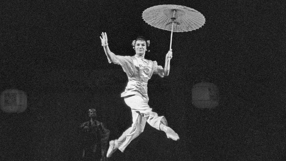 Olga Lepeshinskaya dances in a production of The Red Poppy staged at the Bolshoi Theatre, shortly after being named a People's Artist of the USSR in 1951 (Credit: TASS)