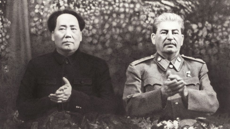 Shortly after the revolution of 1949, Stalin travelled to Beijing to make overtures to the newly installed Communist Party of China (Credit: Getty)