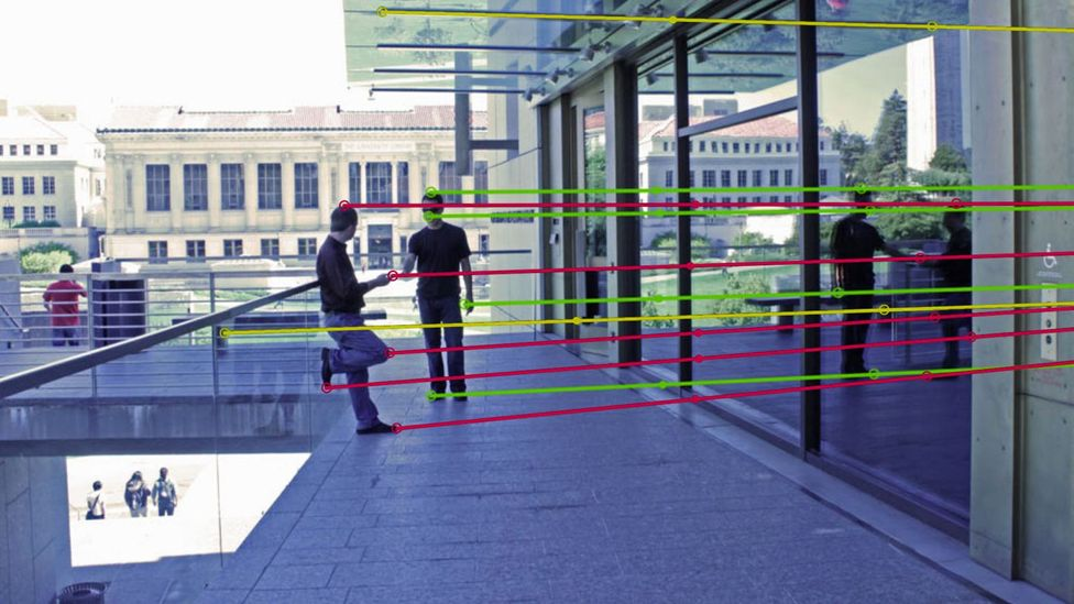 Tracing the reflections in an image can make it easy to spot fakes if they don't line up (Credit: James O'Brien and Hany Farid)