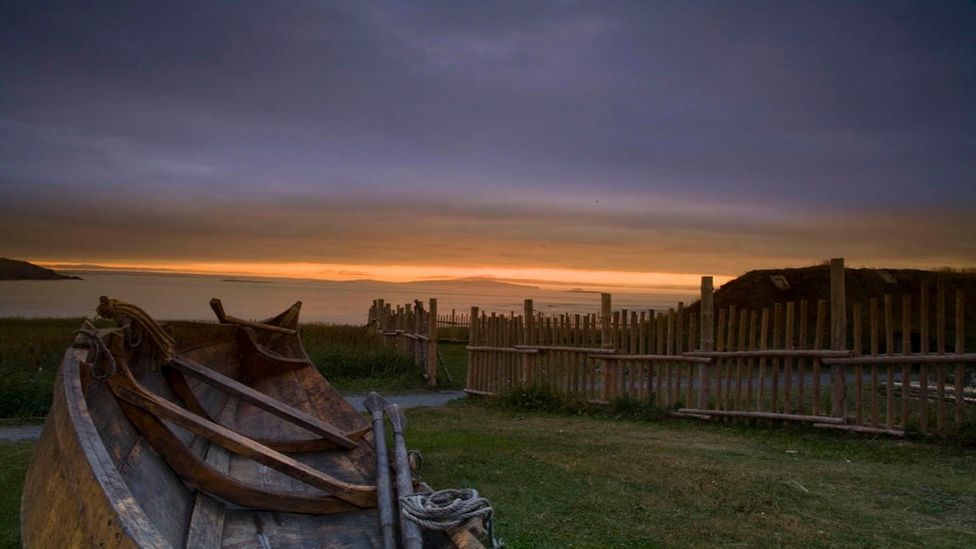 In the year 1000, a Viking longboat captained by Leif Erikson landed near L'Anse Aux Meadows with 90 men and women (Credit: Parks Canada)