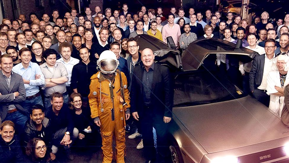 The Incentro team in Utrecht, Netherlands, with Dutch astronaut Andre Kuipers (Credit: Incentro)