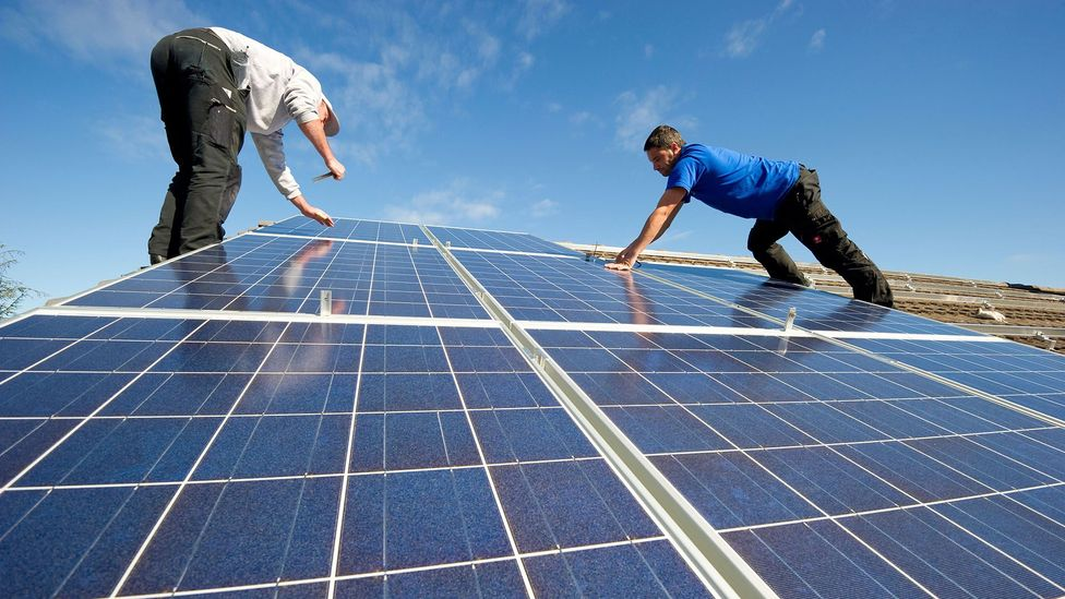 Climate change is forcing us to pivot to renewable energies like solar, which fuels job demand in those sectors (Credit: Alamy Stock Photo)