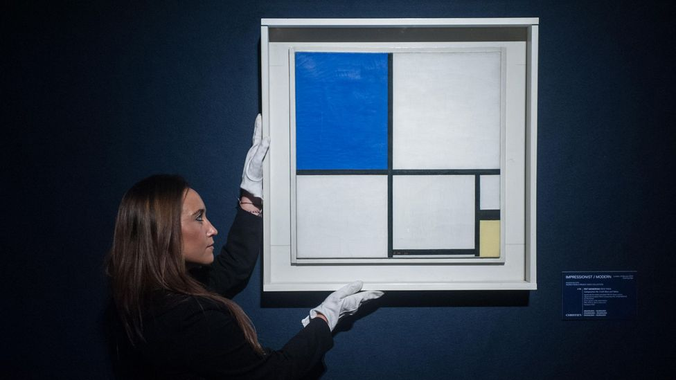 Mondrian is best known for his stark squares and rectangles separated by bold black lines and sometimes painted in primary colours (Credit: Alamy)