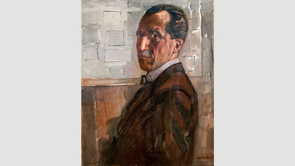 Mondrian took quite a long while to develop his distinctive style – even when he was 46 years old in 1918, he painted more traditionally, as in this self-portrait (Credit: Alamy)