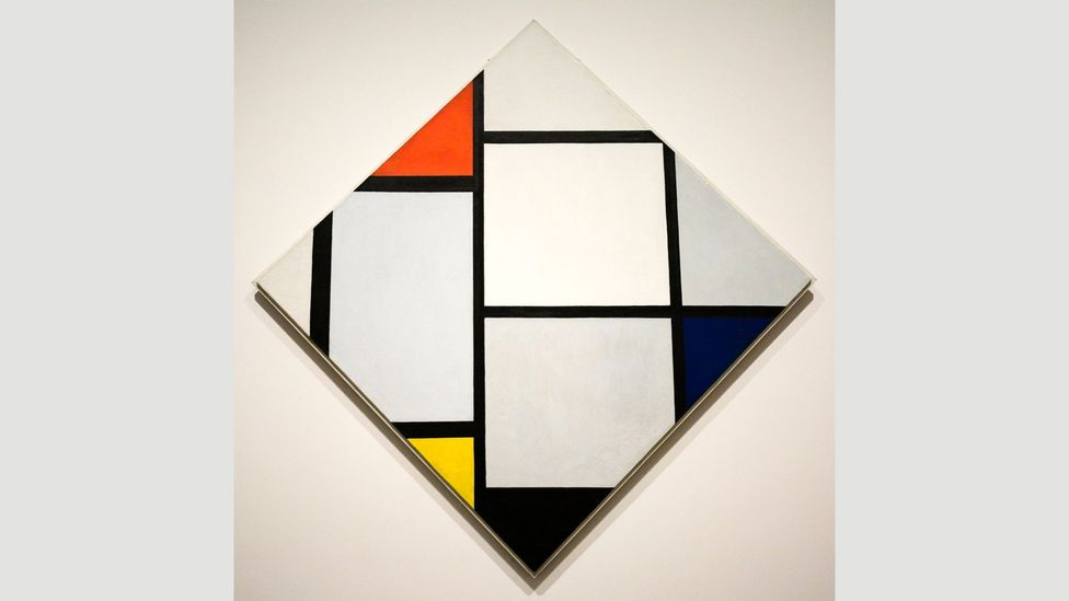 Mondrian stipulated some of his paintings should be rotated to unusual angles, as in Tableau No 4, Lozenge Composition (Credit: Alamy)
