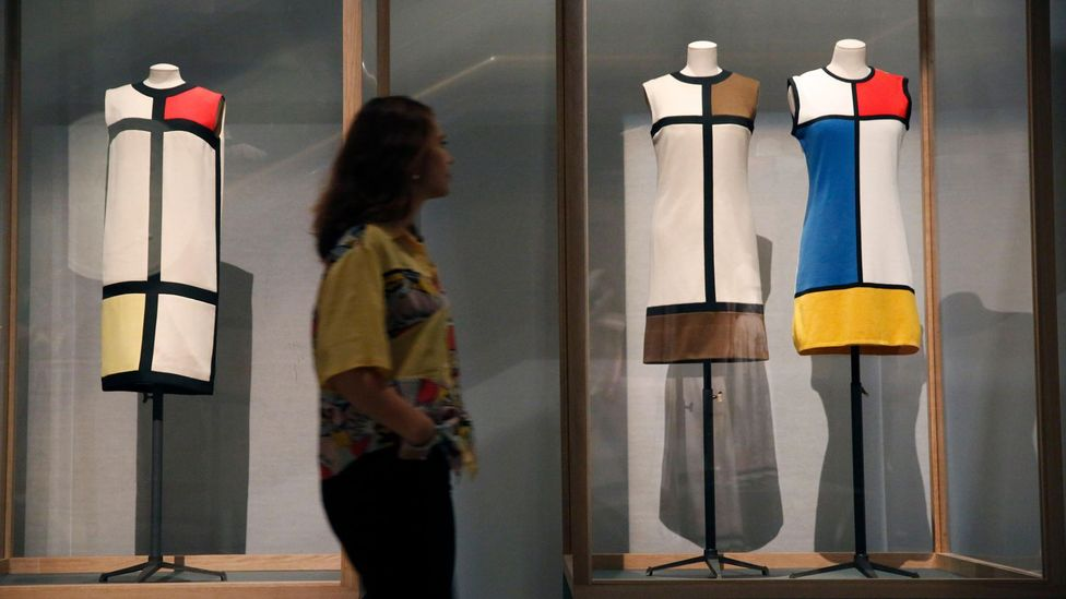 In the 1960s Yves Saint Laurent created dresses based on Mondrian designs (Credit: Alamy)