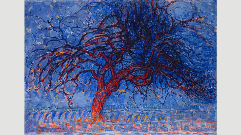 Some of his early work suggests the bold use of colour that lay ahead, such as Evening, Red Tree from 1908 (Credit: Alamy)
