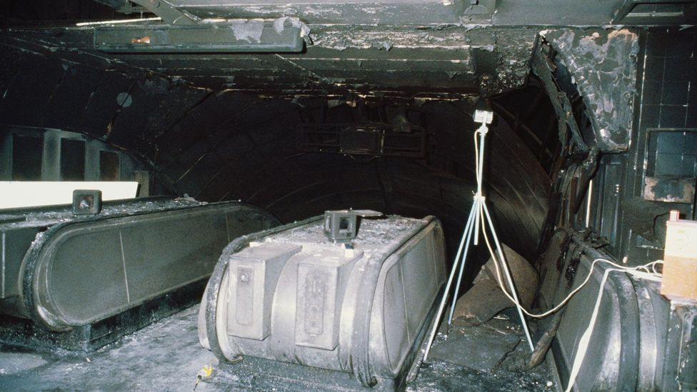 The great fire at King's Cross Underground station in 1987 killed 31 people (Credit: Getty Images)