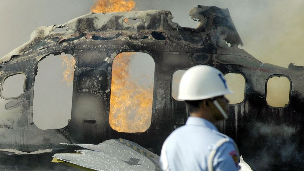 Jet on fire (Getty Images)