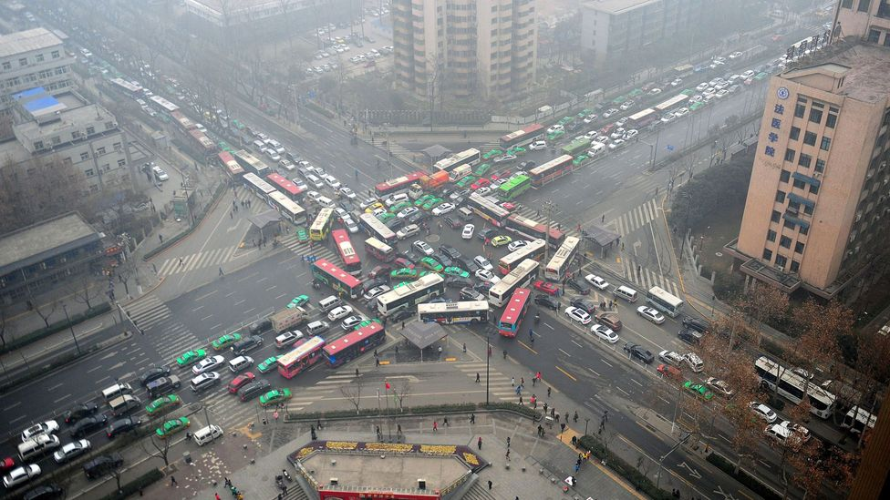 Rapidly industralising countries like China are seeing equally rapid increases in car ownership(Credit: Getty Images)