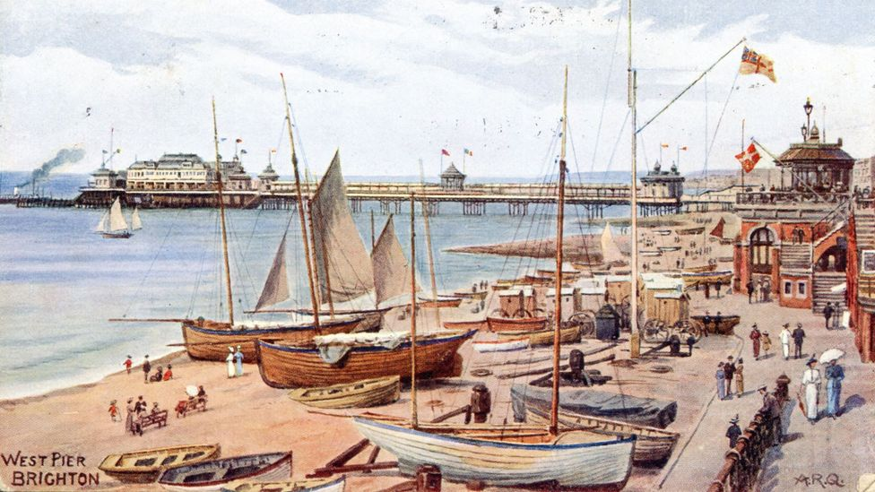 In Jane Austen's time, Brighton had become a popular destination for 'taking the waters', a trend which Austen skewers (Credit: Alamy)