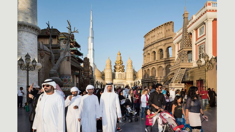 Global Village, a shopping and entertainment park, with 32 pavilions representing 75 countries, 7 January 2017 (Credit: Nick Hannes)