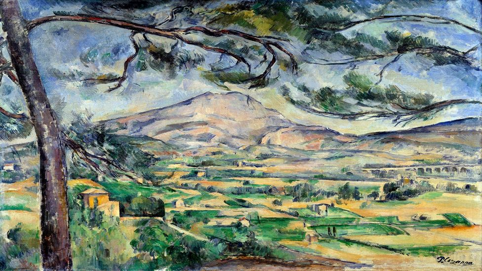 The more Cézanne painted the mountain, the more it became flatter, more fragmented and less realistic (Credit: Josse Leemage/Getty Images)