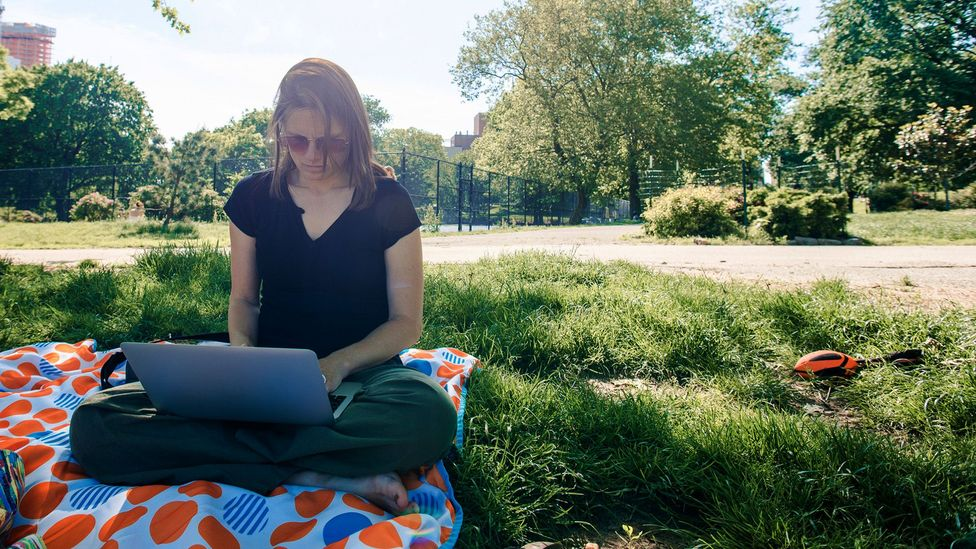 Working somewhere outside the office – if you can – can be a small step to enjoying your job more (Credit: Getty Images)