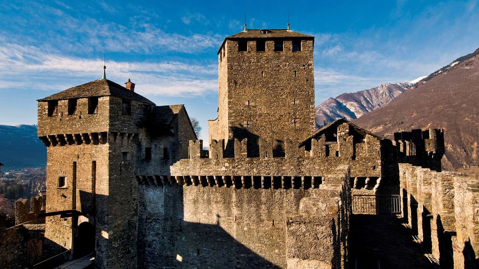 The battlements of Bellinzona, on Switzerland's Italian border, featured heavily in medieval land struggles (Credit: AGF/Getty Images)