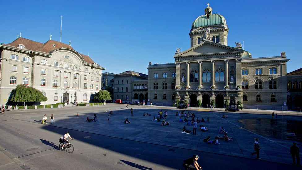For an insight into Switzerland's domestic politics visitors can tour Parliament in Bern (Credit: Bloomberg/ Getty Images)