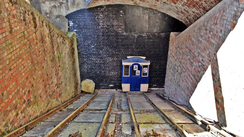 Volunteers have recreated what one train coming up the tunnel would have looked like here (Credit: Amanda Ruggeri)