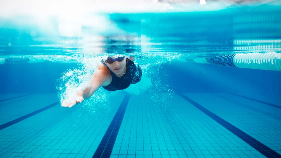 Going for a swim can be a good way of letting your mind become idle and wander in unexpected directions (Credit: Getty Images)