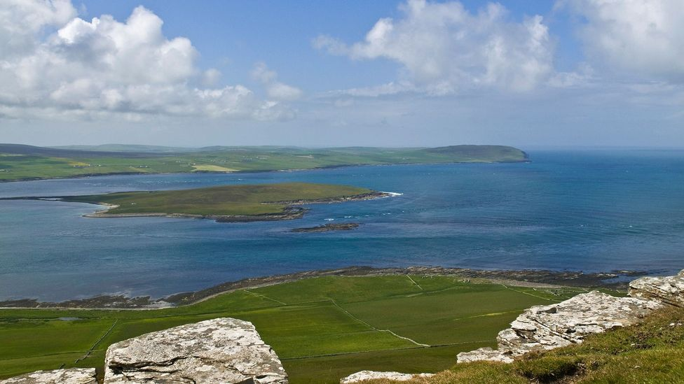 Located between the larger islands of Mainland and Rousay, Eynhallow measures no more than a half mile (900m) across (Credit: Alamy)