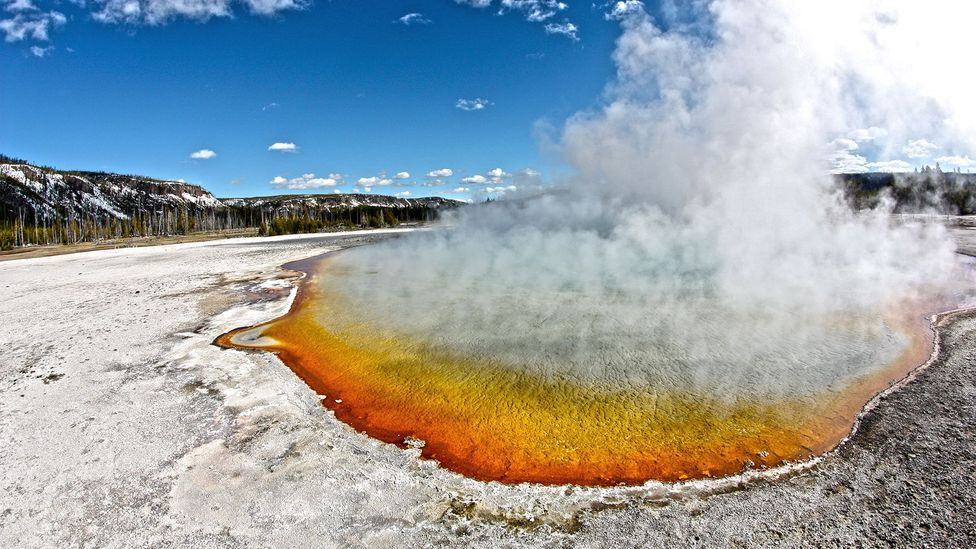 If Yellowstone's supervolcano exploded, it could devastate the West Coast of the US (Credit: iStock)