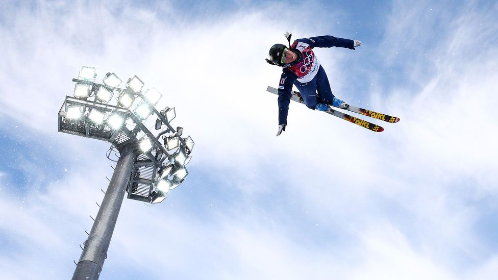 US freestyle skier Emily Cook uses mental imagery to visualise each twist and turn of her jumps (Credit: Getty Images)