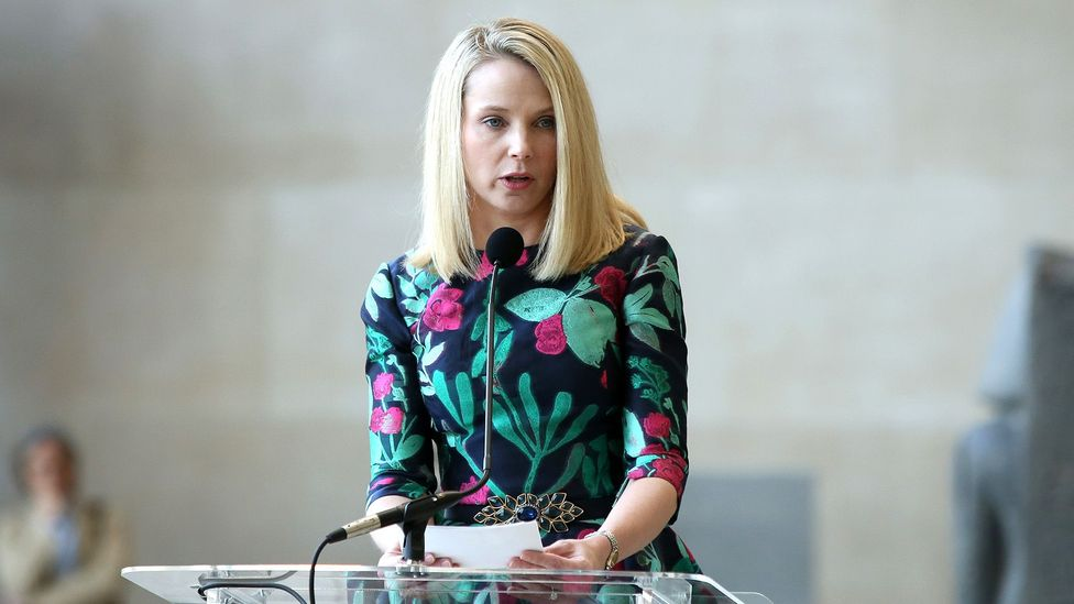 Former Yahoo president and CEO Marissa Mayer has accused the media of gender bias in how it reports on her work (Credit: Getty Images)