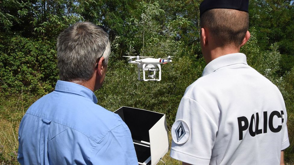 Law enforcement agencies around the world are scrambling to keep up with drone technology so they can better piece together clues in drone-related crimes (Credit: Getty)