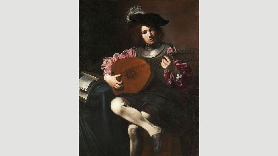 The lute was a popular instrument in the 16th and 17th Centuries and featured in many paintings such as this one by Valentin de Boulogne (Credit: Alamy)