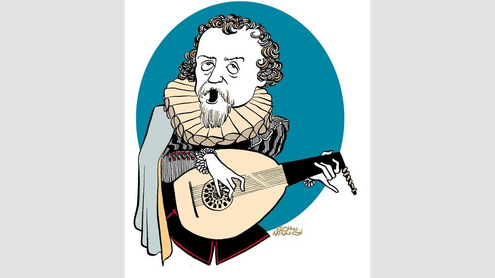 English illustrator John Minnion drew this caricature of Dowland – a sign of the songwriter's enduring impact in the UK (Credit: Alamy)