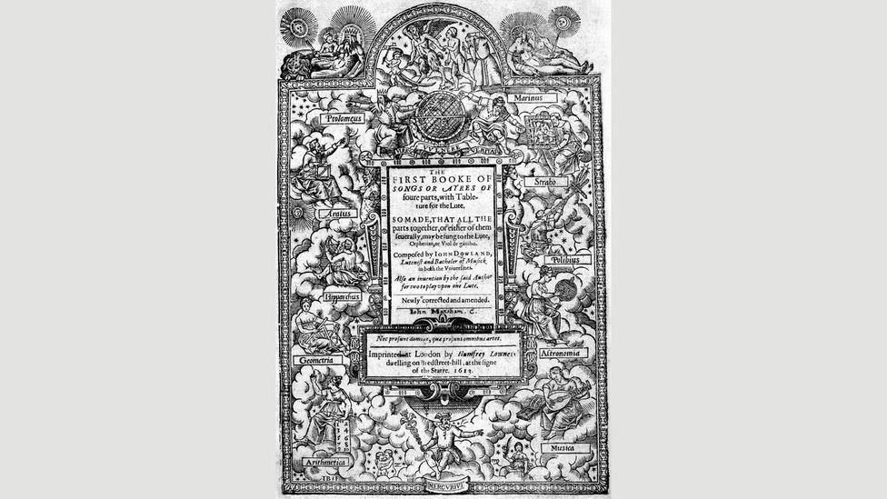 Dowland's First Booke of Songs and Ayres from 1597, with sheet music to allow lute players to accompany singers, was one of his many successful songbooks (Credit: Alamy)