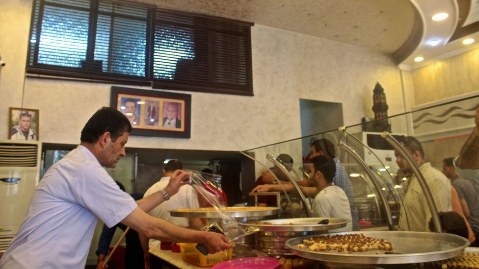 Saqallah's Sweets has been baking knafa since 1896 (Credit: Miriam Berger)