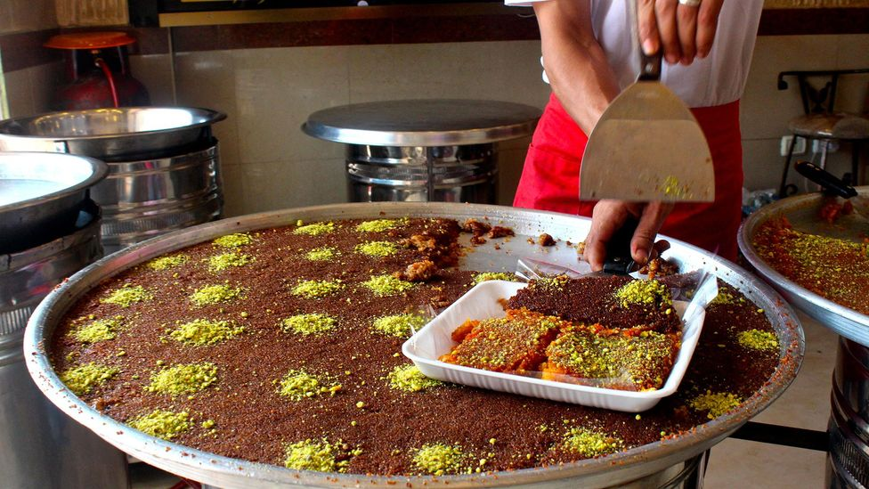 Knafa is unaffordable for many in Gaza, where unemployment is among the highest in the world (Credit: Miriam Berger)