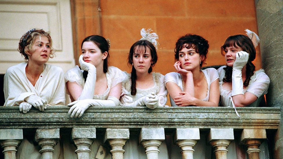 At the start of Pride and Prejudice, all five Bennet sisters are single – a problem seen as large enough to drive the entire plot (Credit: Focus Features/Alamy)