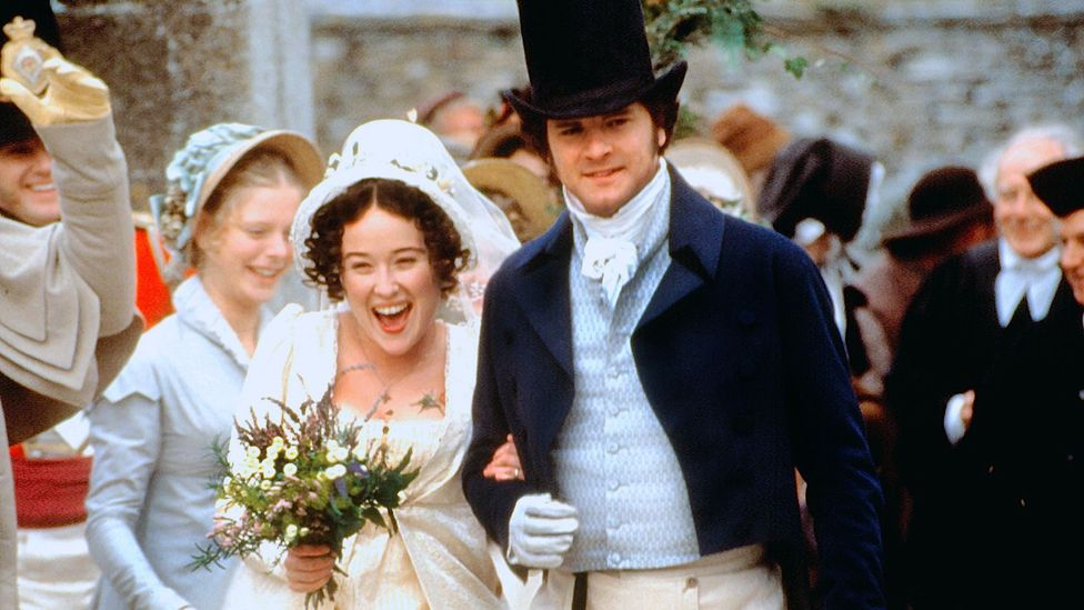 The relationship between Elizabeth Bennet and Mr Darcy was as close to a 'marriage of equals' as was conceivable in Austen's day (Credit: BBC)