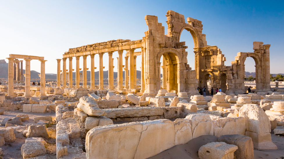 The ransacked ruins of Palmyra – just one of the ancient and now looted or destroyed cities featured by Radio 4 in its Museum of Lost Objects podcast (Credit: Alamy)