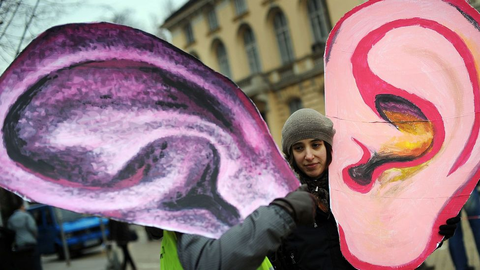 Protesting against overreaching surveillance online isn't new - this demonstrator took to the streets in Sofia, Hungary in 2010 (Credit: Getty Images)