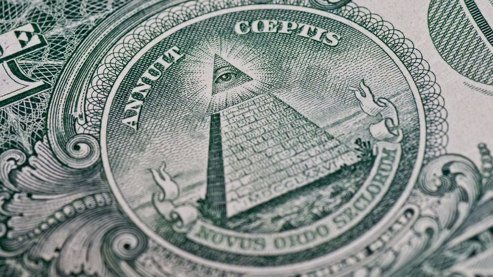 Conspiracy theorists believe signs on the US dollar bill point to Illuminati influence (Credit: Alamy)