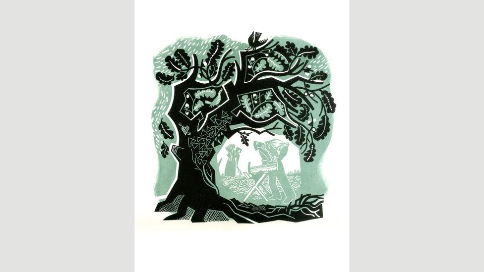 Suffolk-based print-maker and illustrator Clare Curtis is among the contemporary artists inspired by trees and woodland (Credit: Clare Curtis)