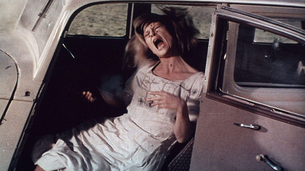 That gulf between perception and reality comes to a shocking climax as Bonnie and Clyde, previously callous to the effects of violence, are riddled with bullets (Credit: Alamy)