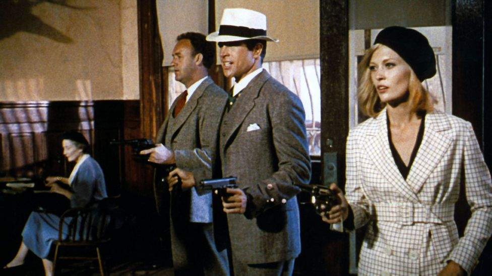 Arthur Penn's film examines the gap between how Bonnie and Clyde see themselves and reality (Credit: Alamy)