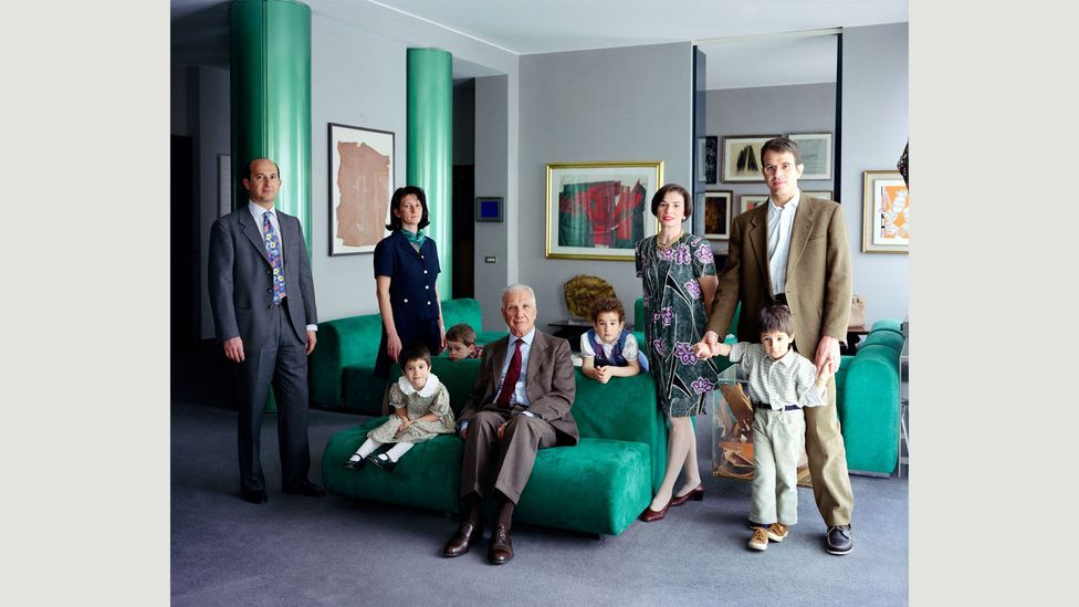 Gursky's peers include Thomas Ruff and Thomas Struth, whose photograph The Consolandi Family is pictured (Credit: Thomas Struth)