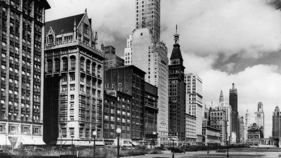 Chicago's skyline grew with the demands for office space in the 19th and 20th Centuries (Credit: Getty Images)